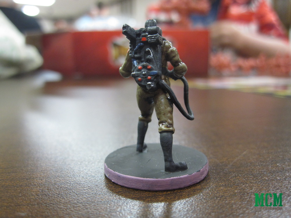 Painted Proton Pack on a Ghostbusters Miniature