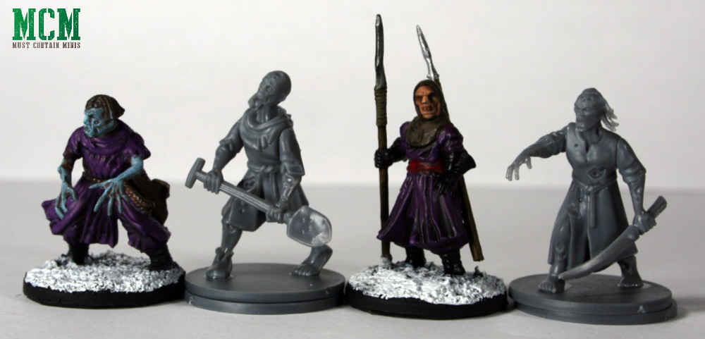 FIreforge Games Living Dead Peasant Scale Comparison to Frostgrave minaitures