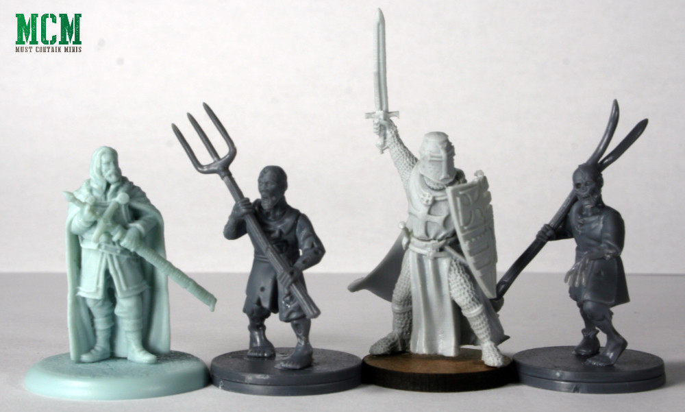 Fireforge Games Forgotten World Scale Comparison - Song of Ice and Fire vs Fireforge Minis