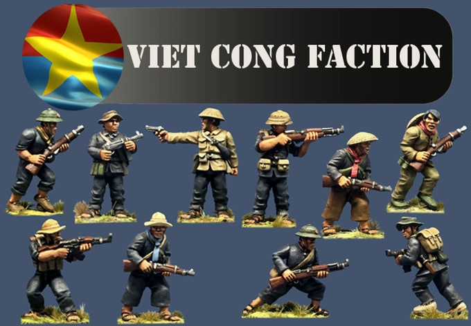 Viet Cong Miniatures by Crucible Crush - 28mm