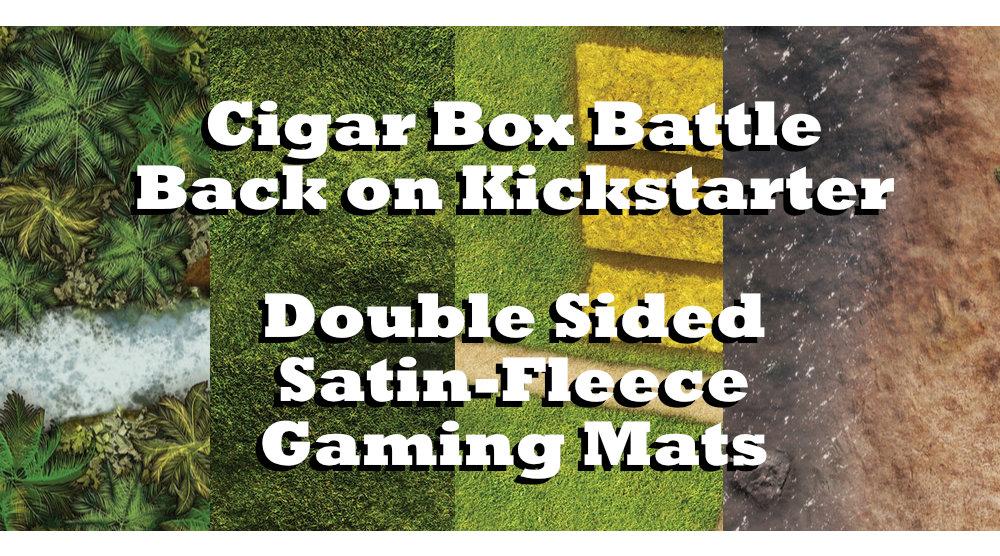 You are currently viewing Cigar Box Battle Mats – Double Sided Satin Fleece Kickstarter