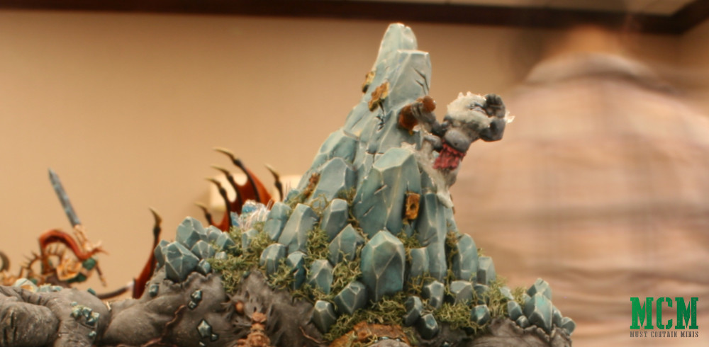 Details of a Trollblood Mountain King by Privateer Press