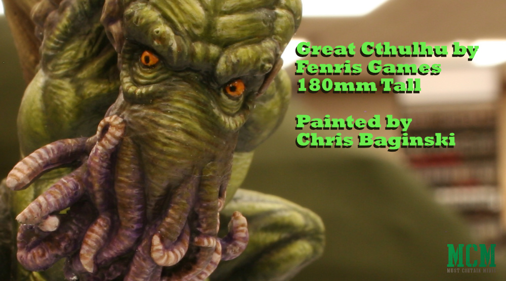 Cthulhu at Sword and Brush 2019 painting competition and gaming convention