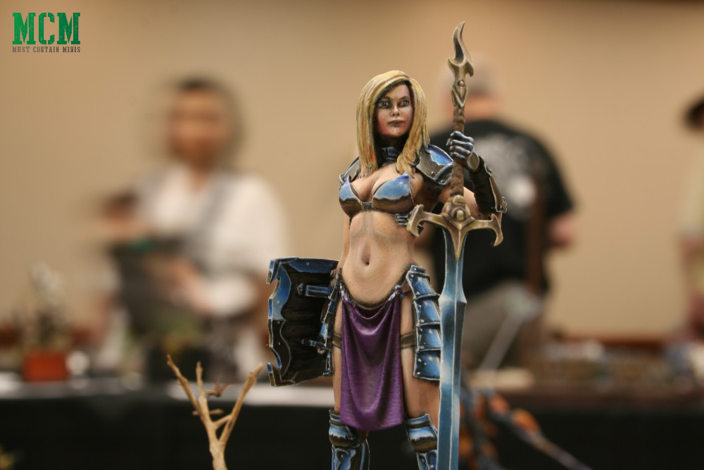 Painted Scale75 75mm female fantasy miniature