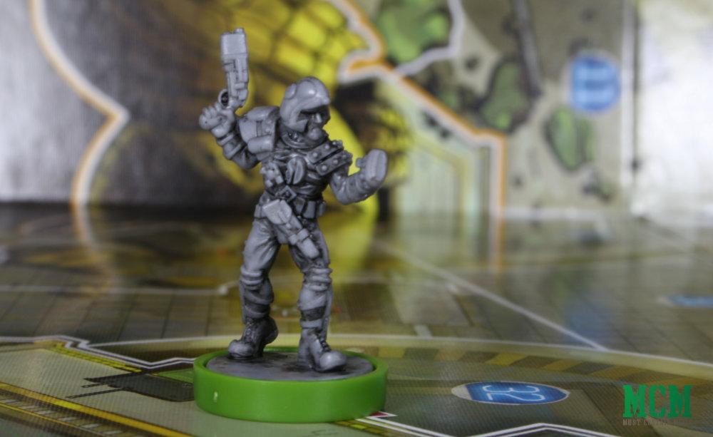 Johnny Alpha miniature from Judge Dredd Helter Skelter Board Game