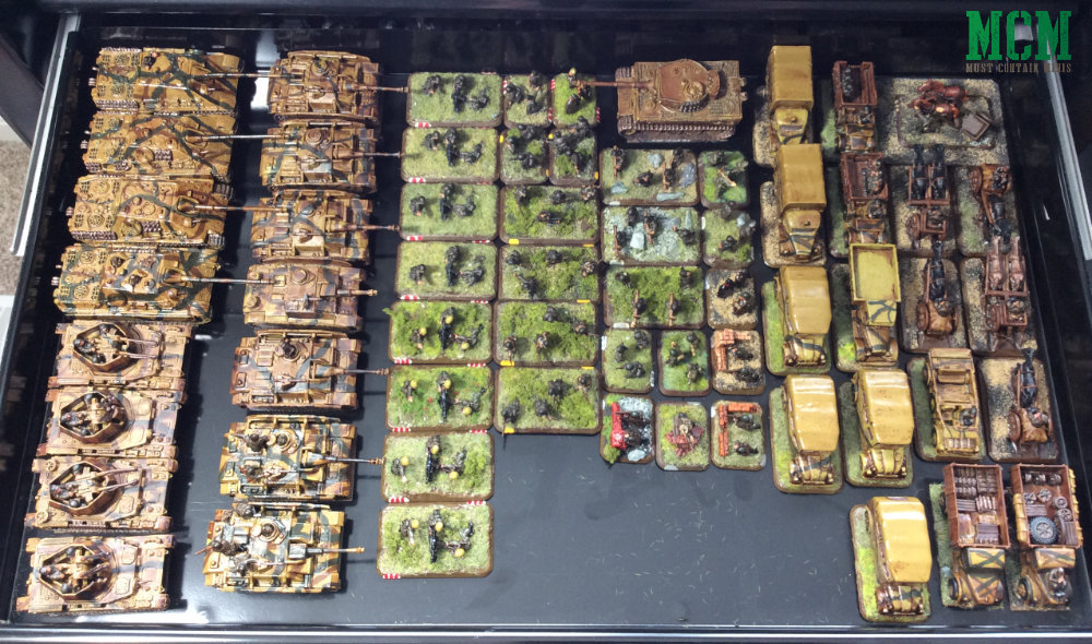 Drawer of Heer StuGs and Jadgpanthers. Flames of War Collection.