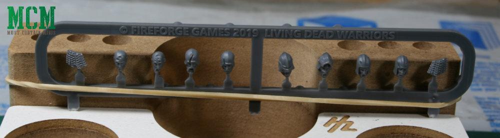 Living Dead Warriors Sprue heads - Fireforge Games