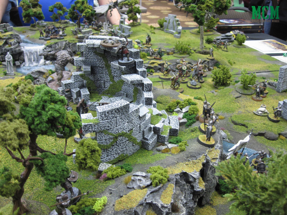 Lord of the Rings Miniatures game at Hotlead 2019 gaming convention