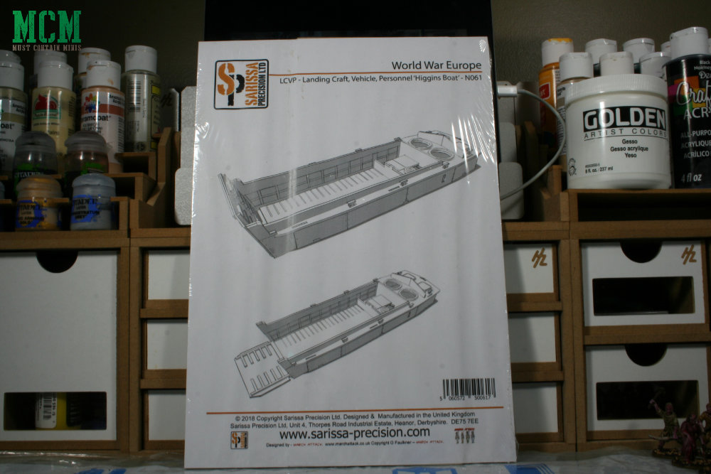 Review of 28mm Sarissa Precision LCVP Landing Craft, Vehicle Personnel Higgins Boat for Warlord Games Bolt Action.