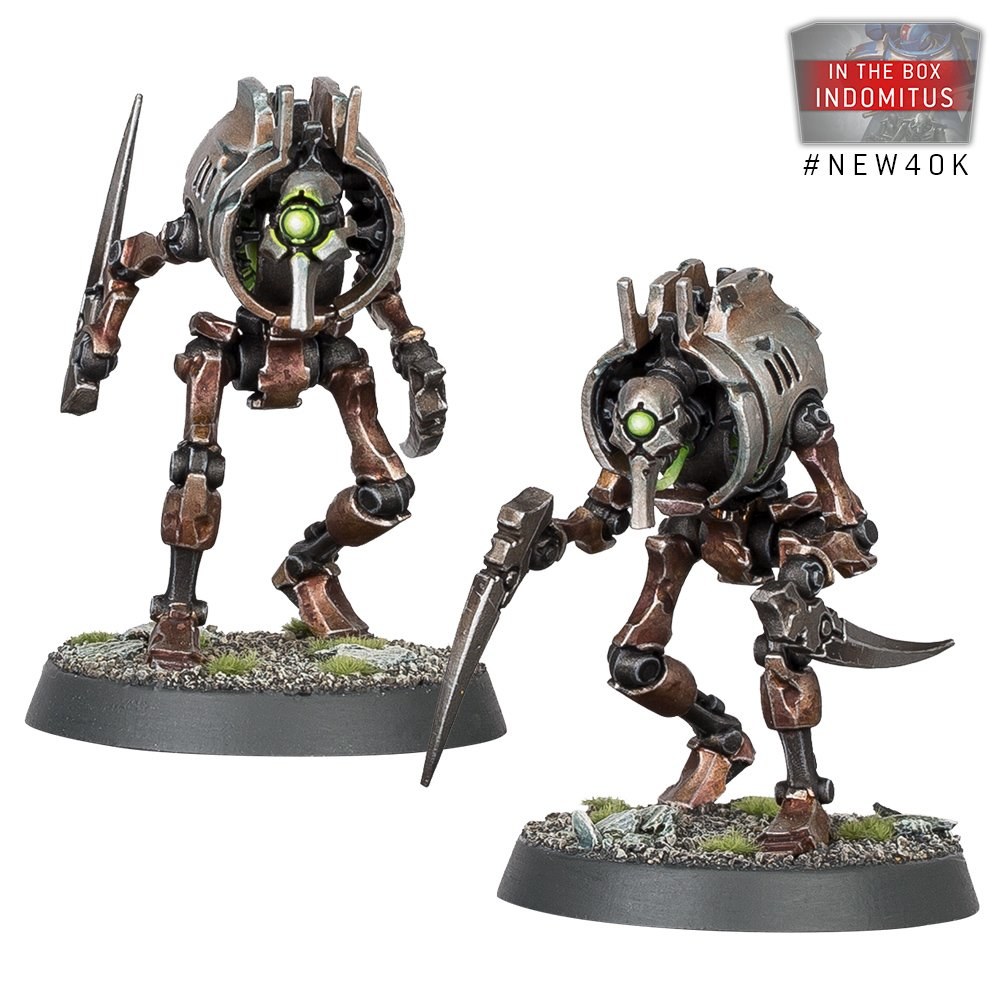 Some Necron Models from the new 40K launch box Indomitus