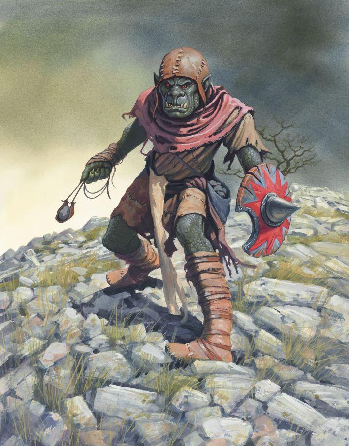 Oathmark Artwork - Goblin Slinger