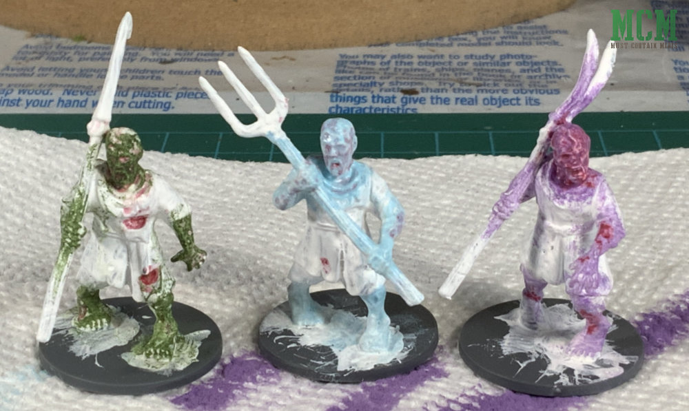Sample Miniatures, which flesh colour to choose for Living Dead Zombies. 28mm gaming.