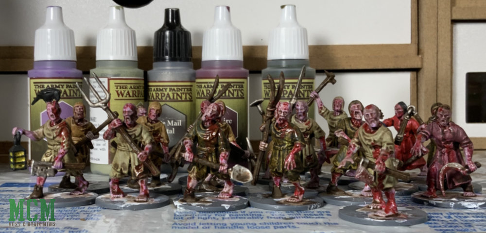 Painted Living Dead Peasants by Jacob Stauttener using mostly The Army Painter Paints