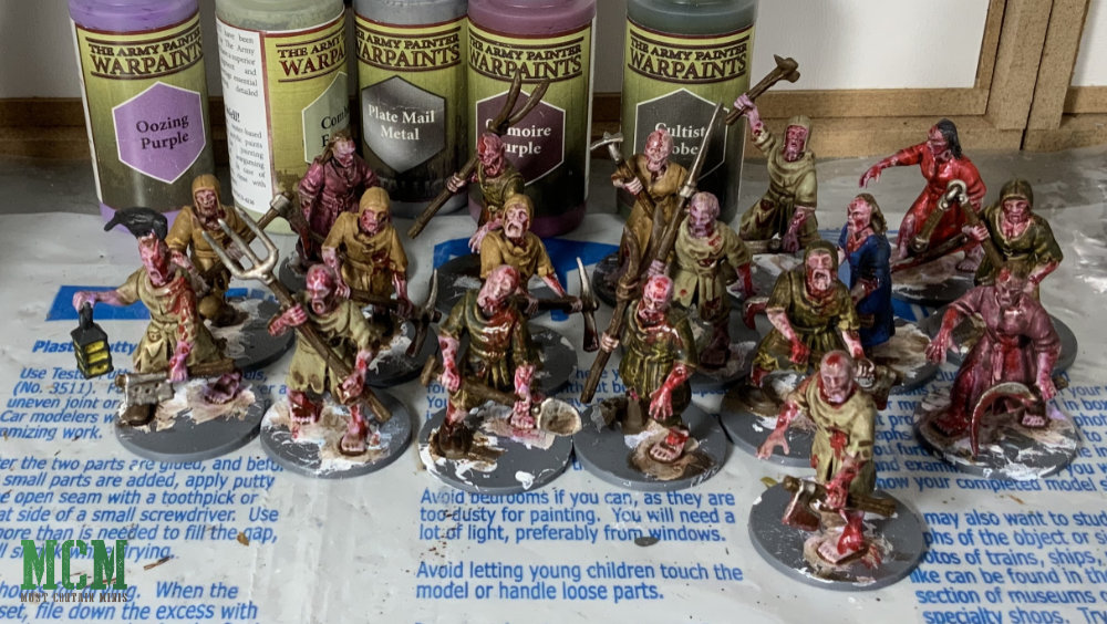 28mm Zombie Miniatures painted mostly with The Army Painter paints.