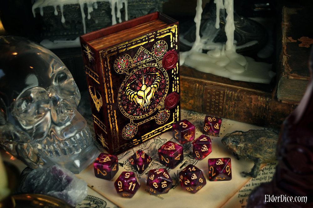 Crown of the Night Mother Witches themed Cthulhu Dice