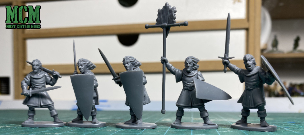 Plastic Path finders made from Osprey Games and North Star Military Figures Elf Light Infantry set for Oathmark