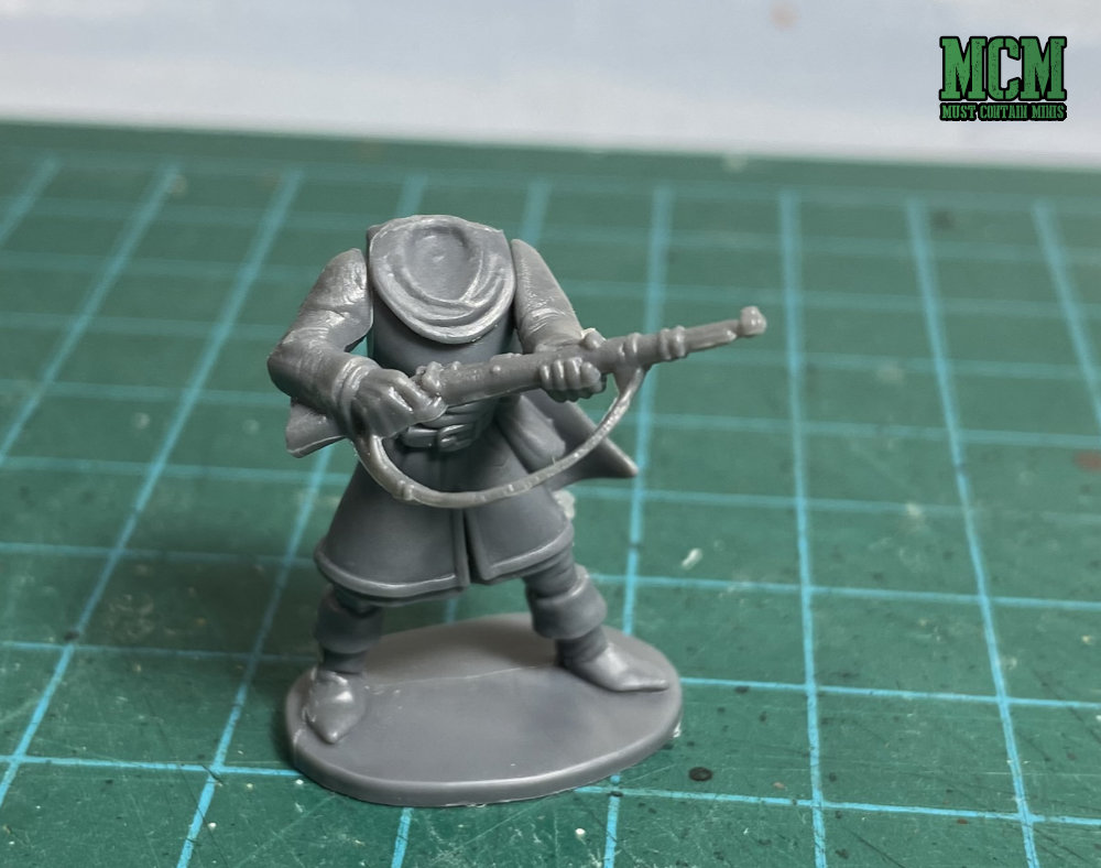 Kitbashing a Bolt Action rifle onto an Oathmark Light Infantry Body. I am not sure why you would want to combine the two, but they fit together nicely.