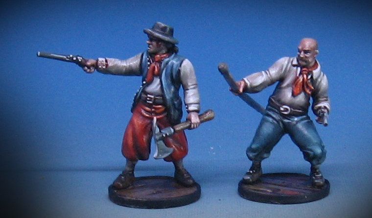 Sample Plastic Pirate Miniatures for Blood & Plunder. 28mm.