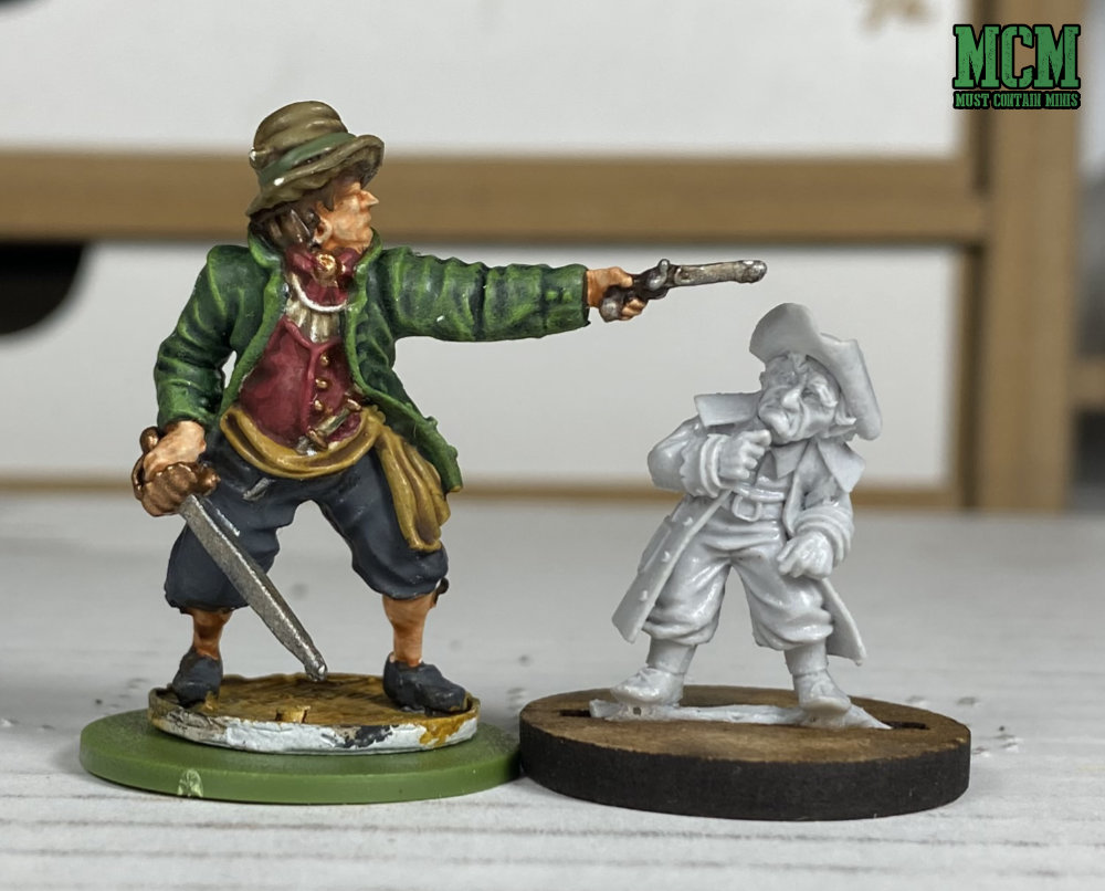 Gordon Rumsley Scaled vs a Blood and Plunder Miniature