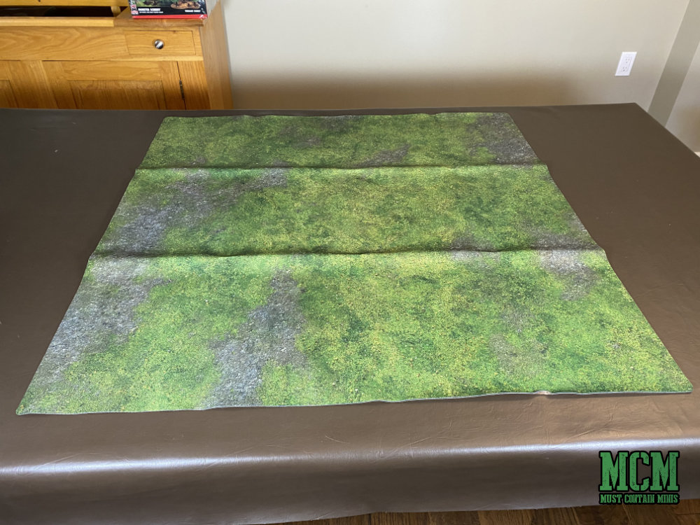 The gaming mat right out of the box