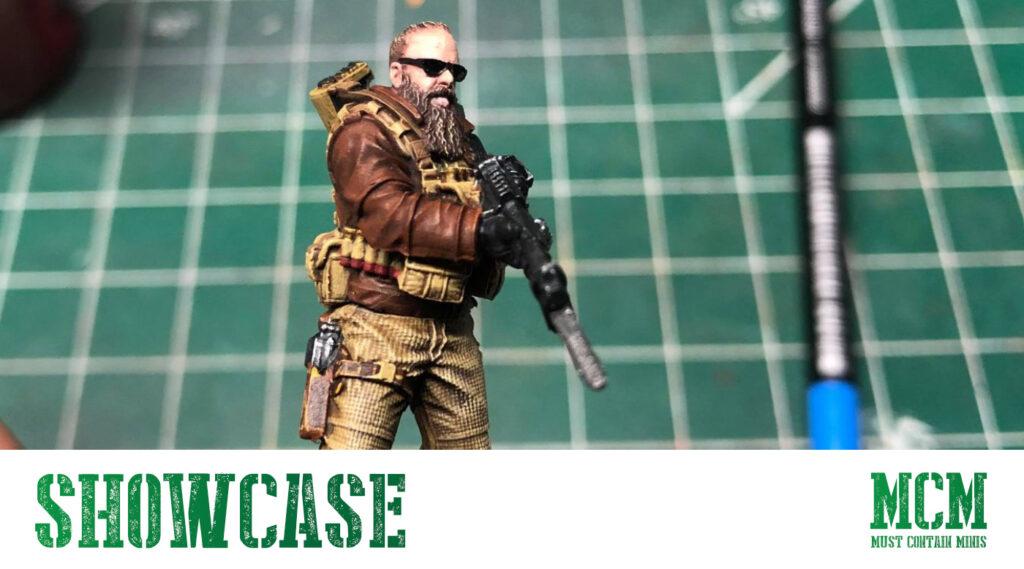 Team Monster Cyberpunk Red painted Miniature