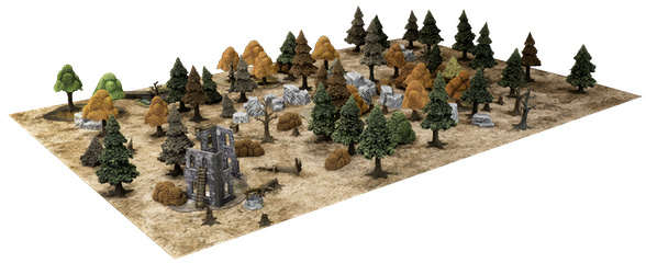 Beautiful Scenes - Autumn wargaming terrain