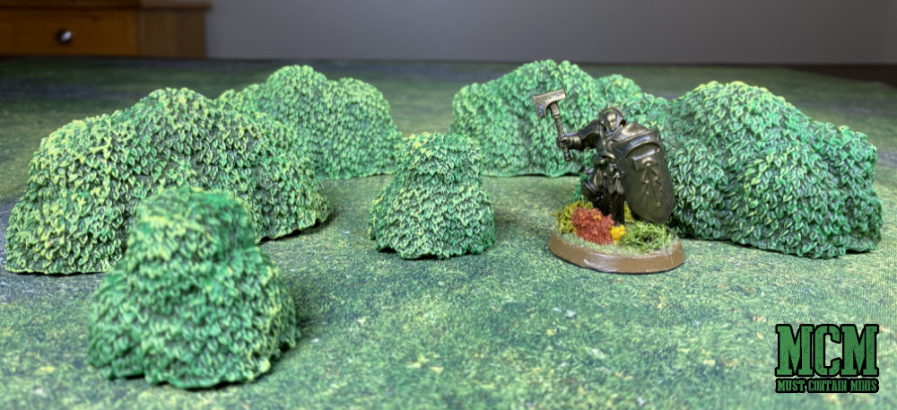 Age of Sigmar Miniature there for scale purposes in this Monster Scenery: Bushes - Review