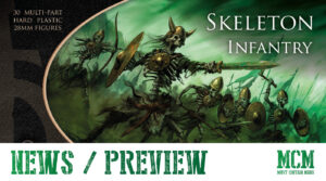 Read more about the article Oathmark Skeleton Infantry Preview – 28mm miniatures
