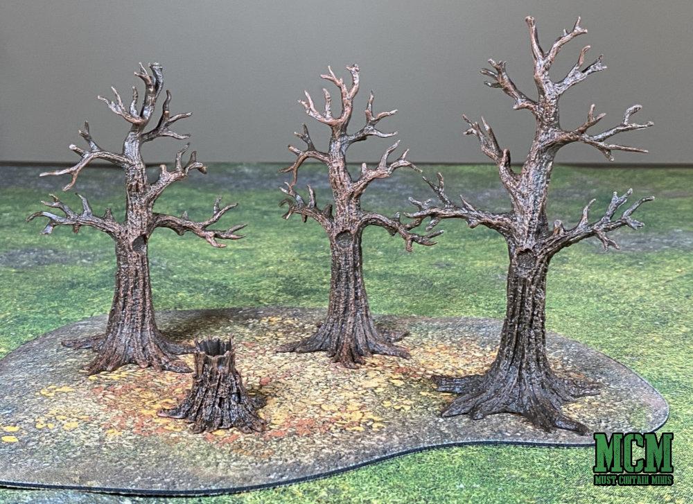 Barren forest wargaming terrain 28mm to 40mm