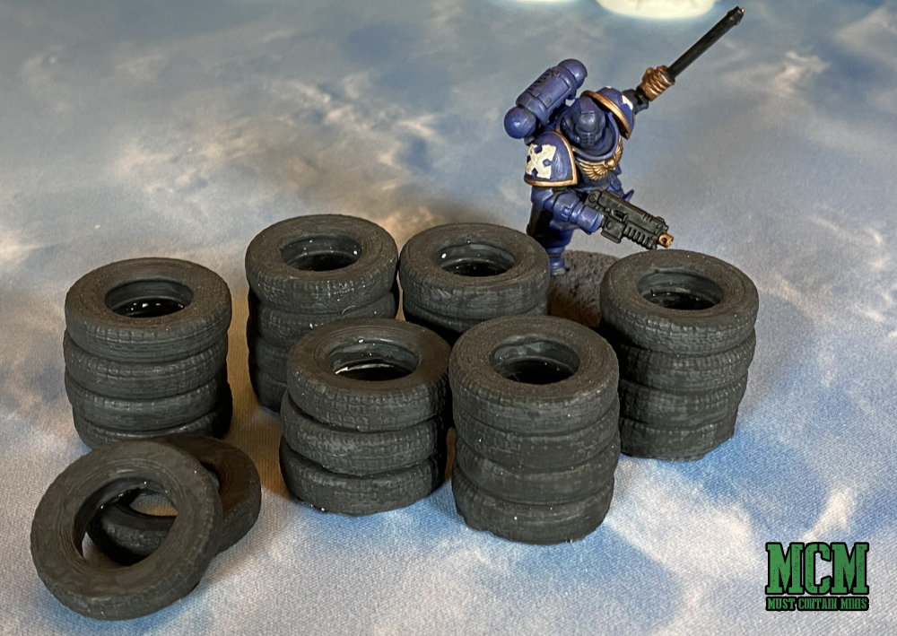 Tires Scatter Terrain Review for Sci-fi gaming