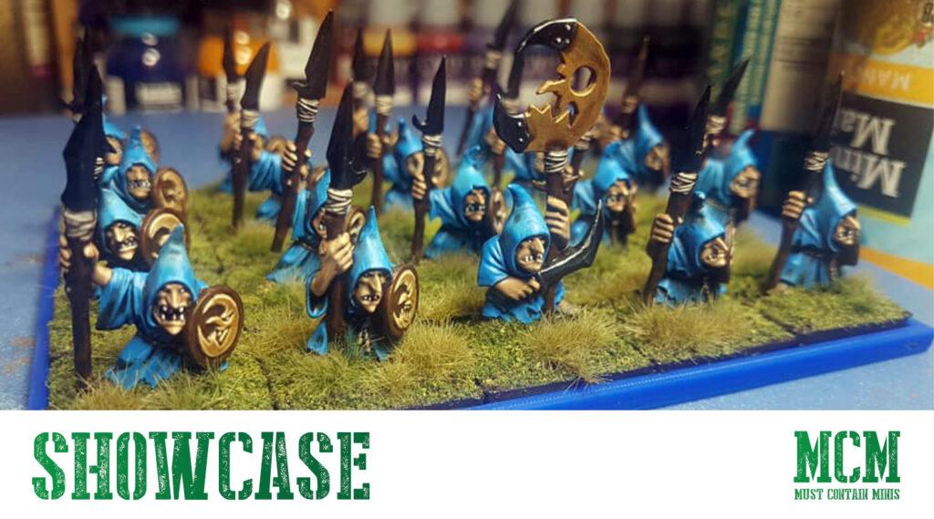 Warhammer Goblin Spearmen painted miniatures showcase - November 2020 Newsletter