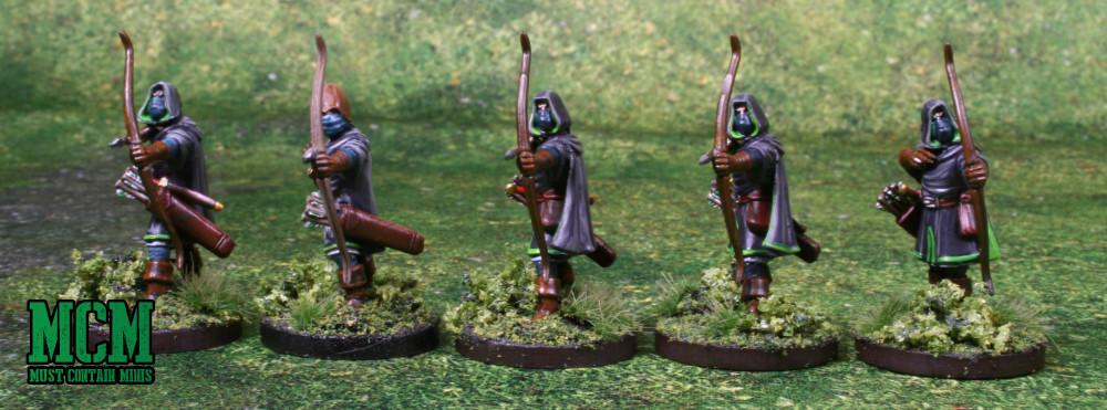 Painted Oathmark Light Elf Infantry miniatures