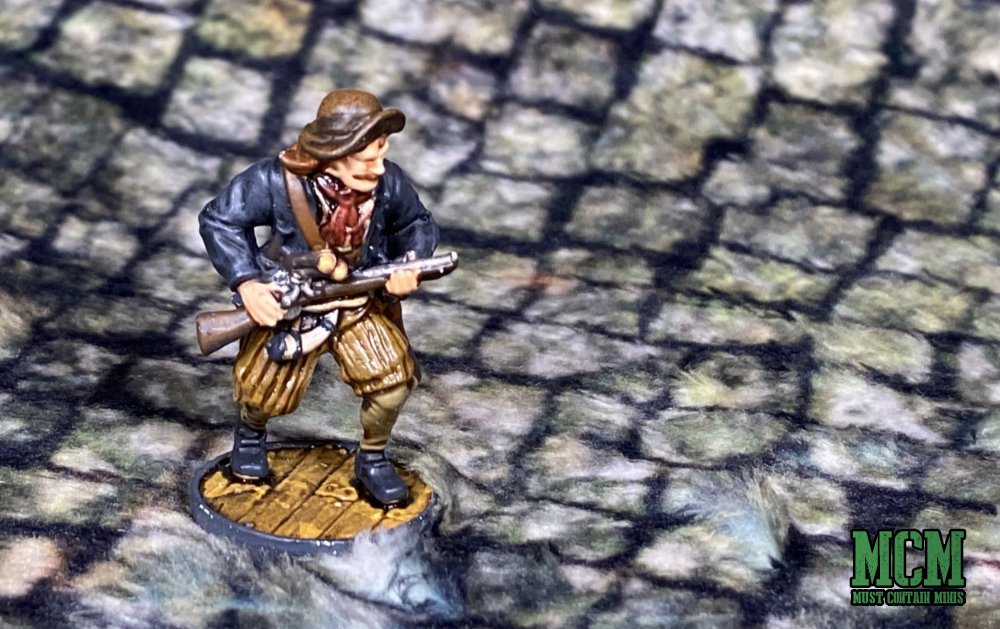 Painted Enter Ploeg miniature with a Blunderbuss - Blood & Plunder