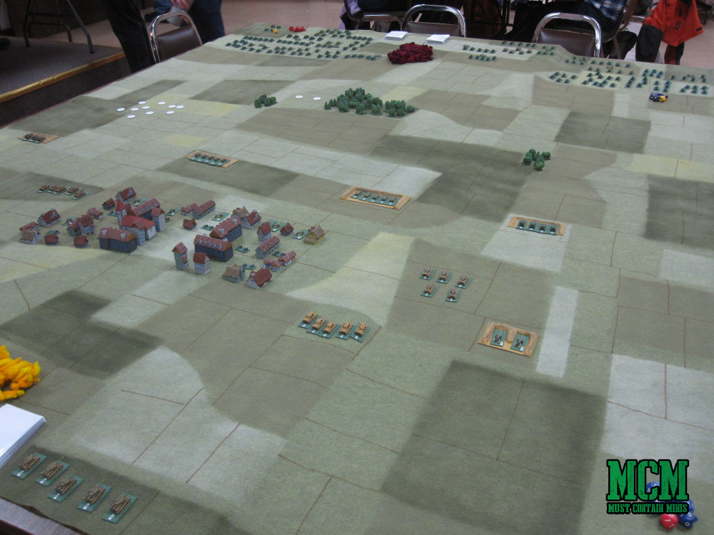 Look at the size of that gaming table! Wow!