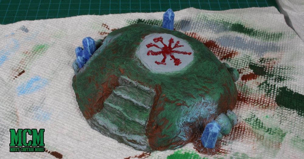 28mm miniature terrain painting - WIP