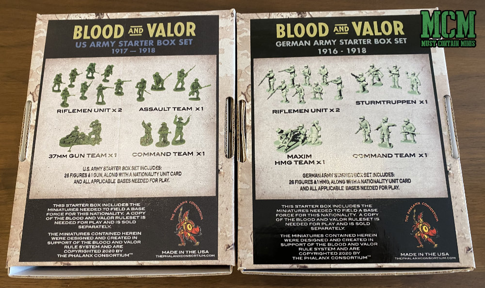 Blood and Valor Miniatures by the Phalanx Consortium.