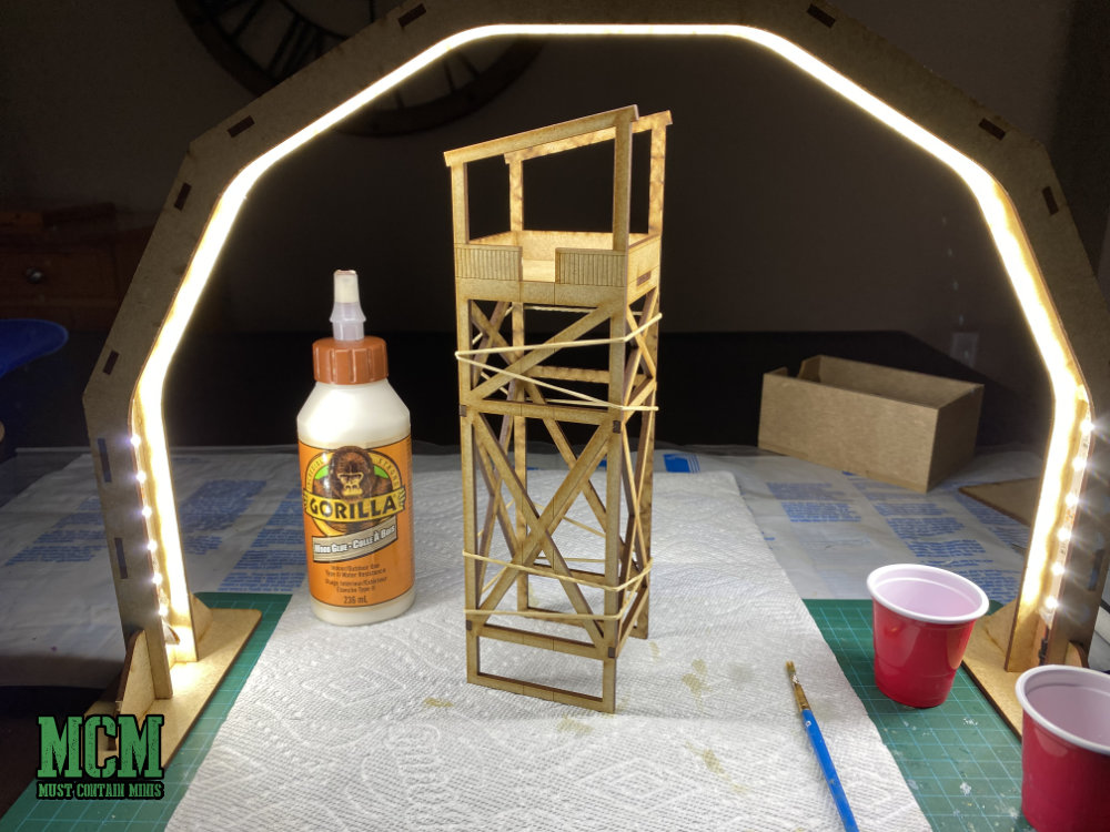 GameCraft Miniatures Review of LED lamp and 28mm tower.