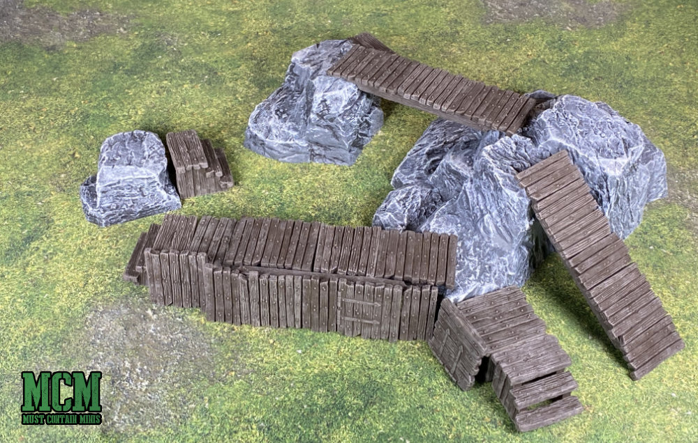 Monster Scenery Terrain Review - Bridges & Barricades and Rock Hills