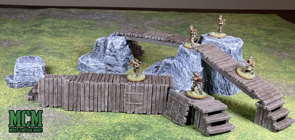 Monster Scenery Terrain Review - Scale Comparison of Bolt Action to Monster Fight Club Terrain