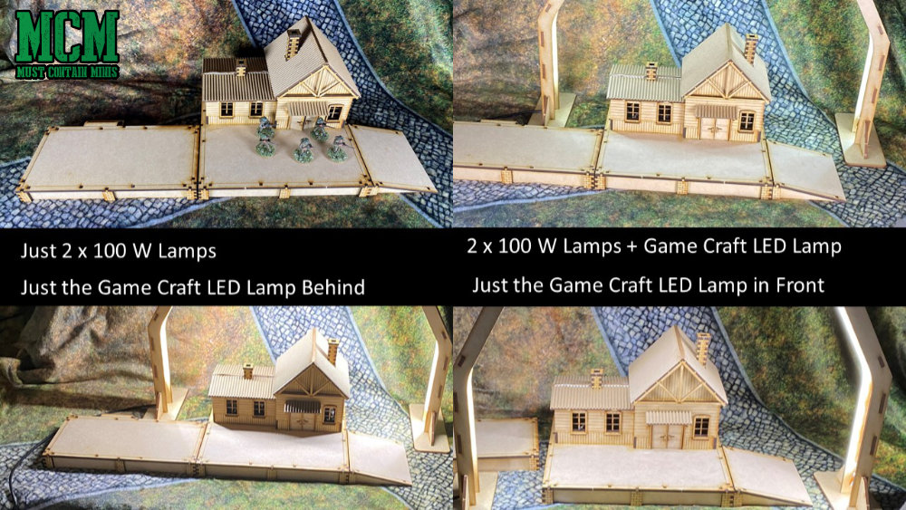 Lighting for miniature and terrain photography. How to photograph Wargame models.