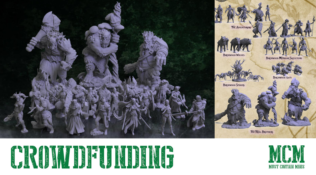 Read more about the article 3D Printable Fantasy Terrain & Miniatures – Birchwood Vale