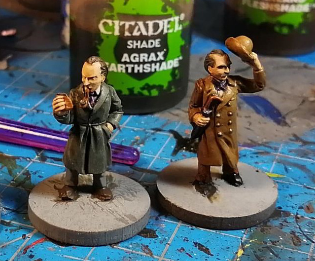 Gentlemen from RAFM's Scotland Yard Trio set in their Classic Cthulhu Line of miniatures.