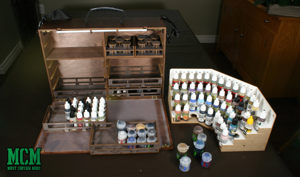 How to store Vallejo, The Army Painter and Citadel Paint Bottles and Pots.