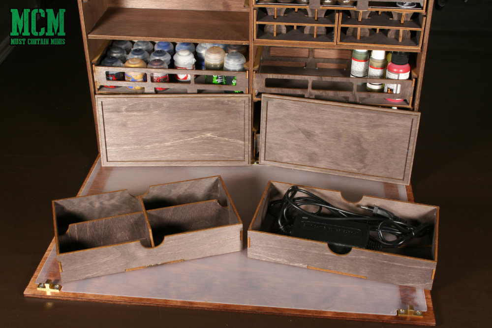The Tool boxes for my portable miniatures paint station