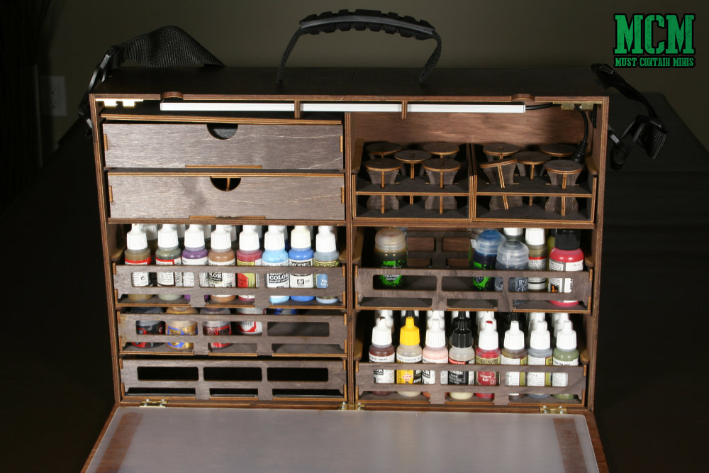 My loaded up Frontier Wargaming Paint Case 2.0 - paint station review for miniature painting