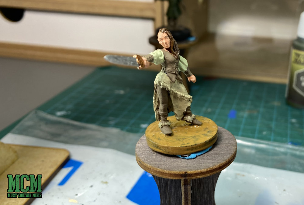 A WIP picture of a Westfalia Miniature for D&D 5E