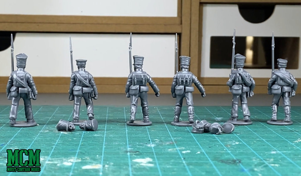 The back of the Miniatures