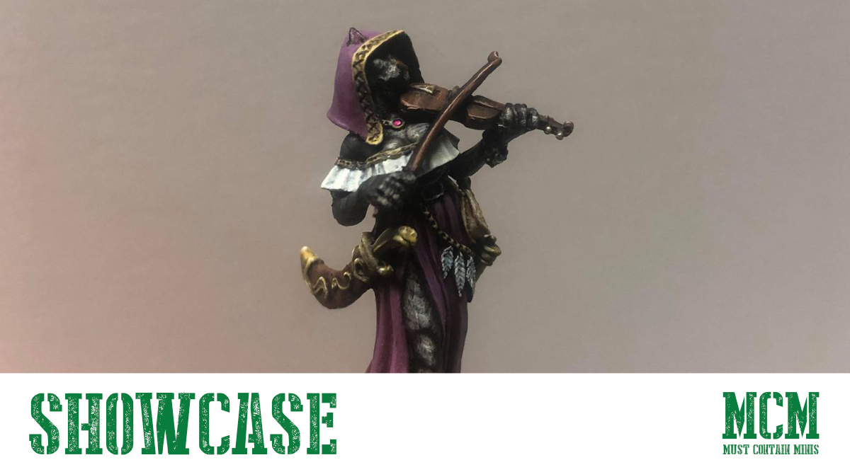 Read more about the article Painted RPG Miniature – Female Feline Bard