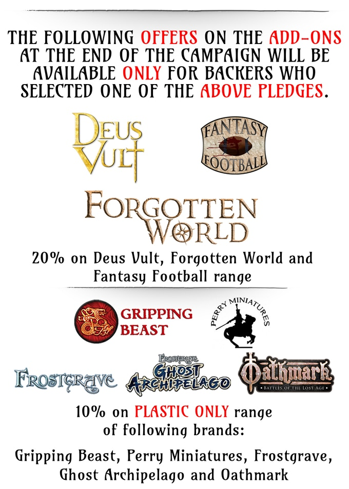 Extra deals in the Stone Realm Dwarves Kickstarter Campaign