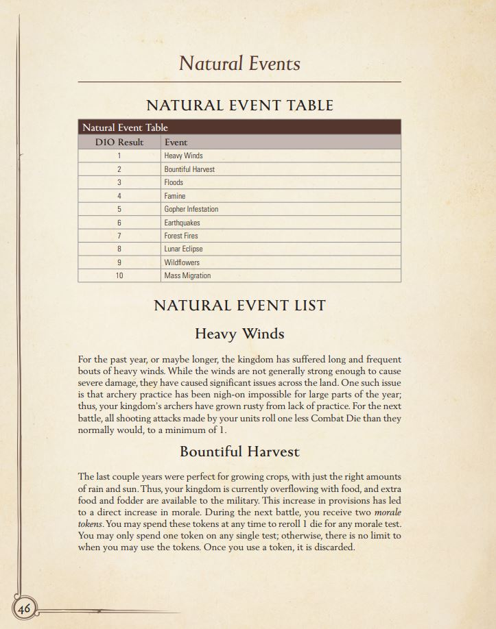 Oathmark: Bane of Kings Kingdom Events